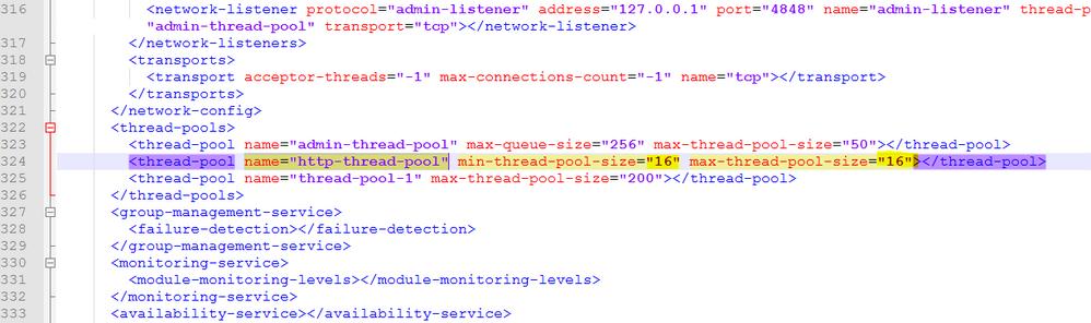 domain.xml post change
