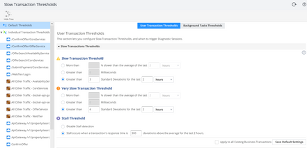 Slow Transaction Threshold