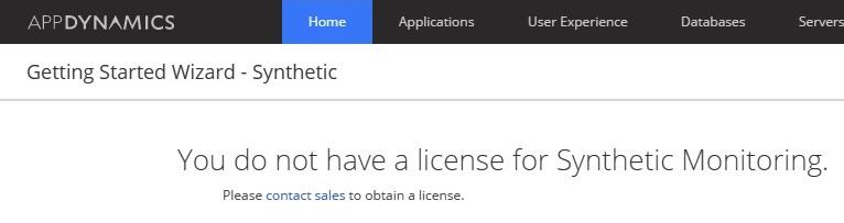 No Synth License Error Message